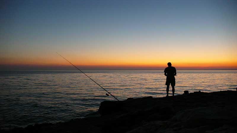 pesca dalla spiaggia